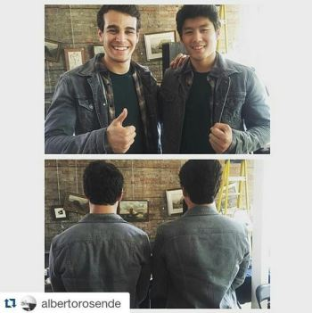 alberto and stunt double